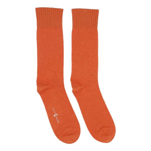 Cashmere strømper til mænd og kvinder orange