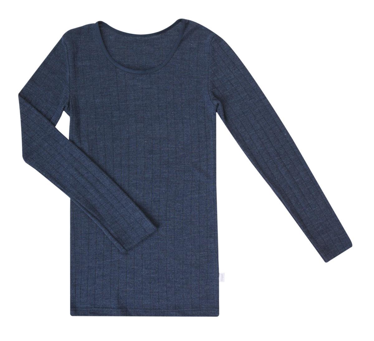 Joha uld silke langærmet bluse blå