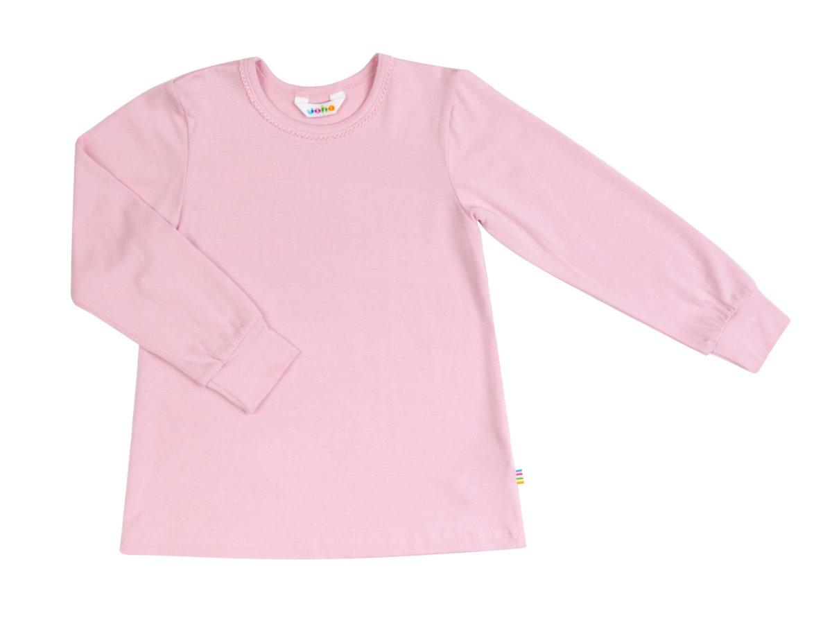 Joha økologisk bambus pyjamasbluse i lyserød