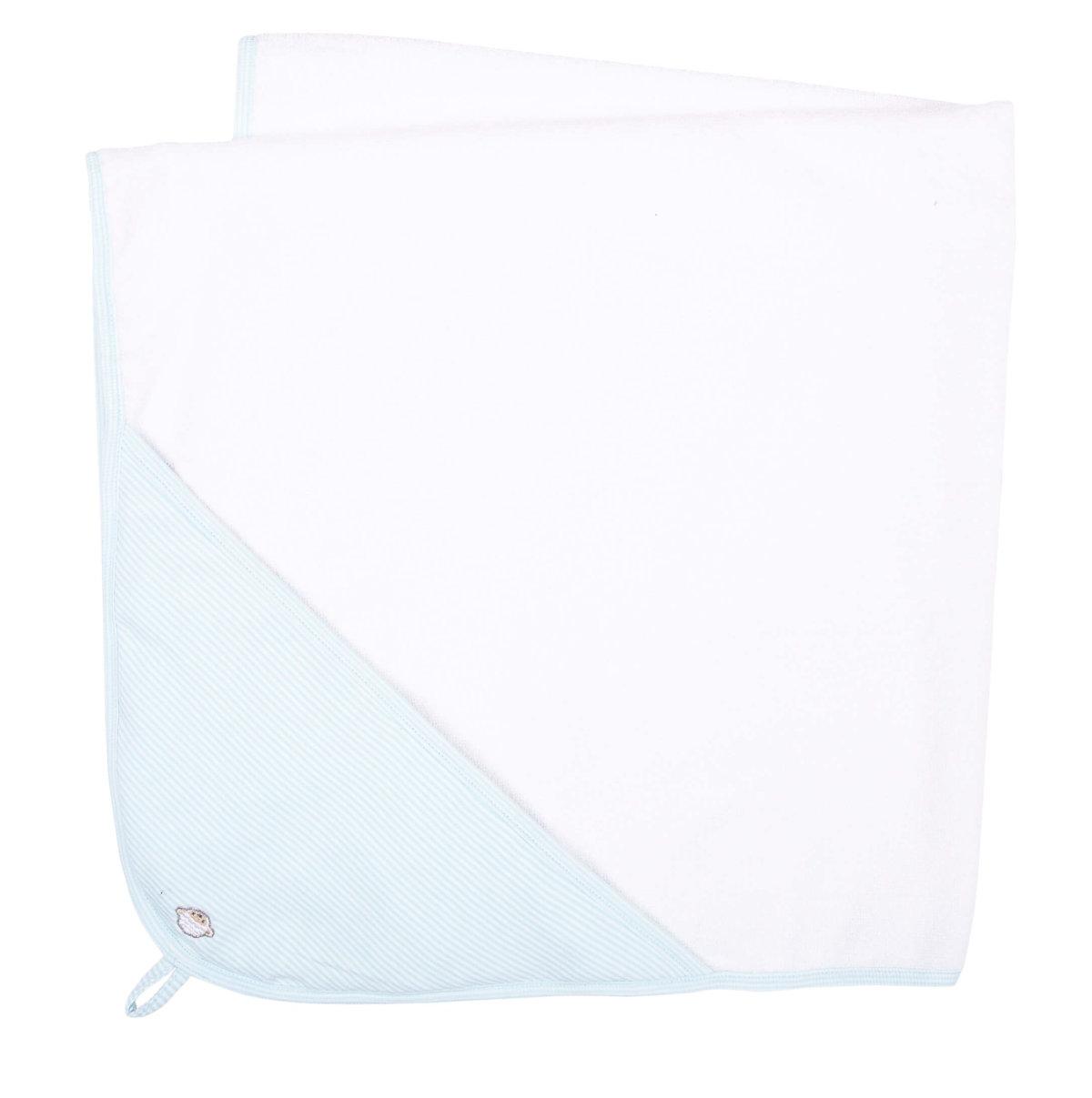 Baby badelagen hvid-lyseblå