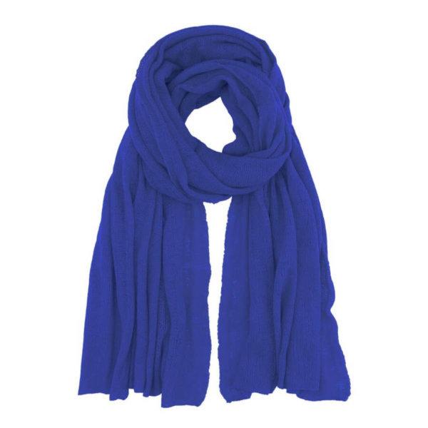 Scandinavianlux fjerlet cashmere tørklæde kobolt blåt