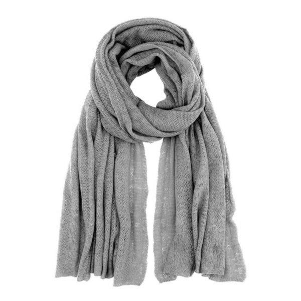 Scandinavianlux fjerlet cashmere tørklæde grå