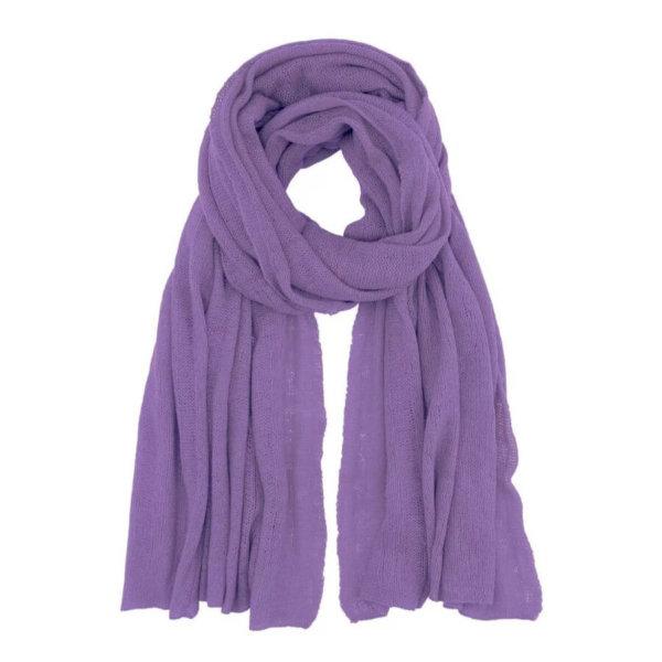 Scandinavianlux fjerlet cashmere tørklæde lilla