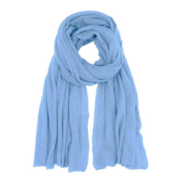 Scandinavianlux fjerlet cashmere tørklæde lyseblå