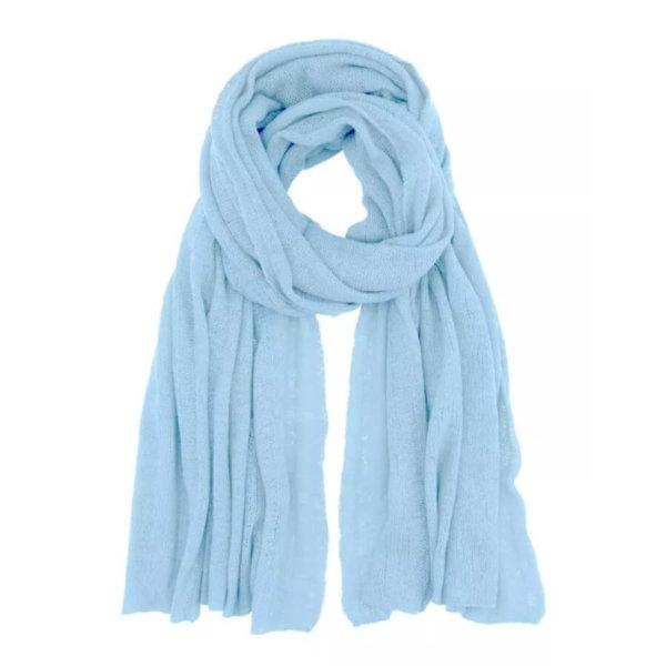 Scandinavianlux fjerlet cashmere tørklæde baby blå