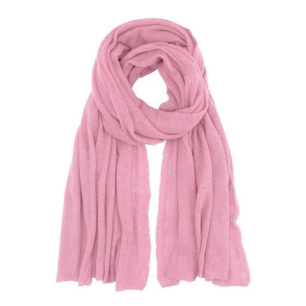 Scandinavianlux fjerlet cashmere tørklæde – baby pink