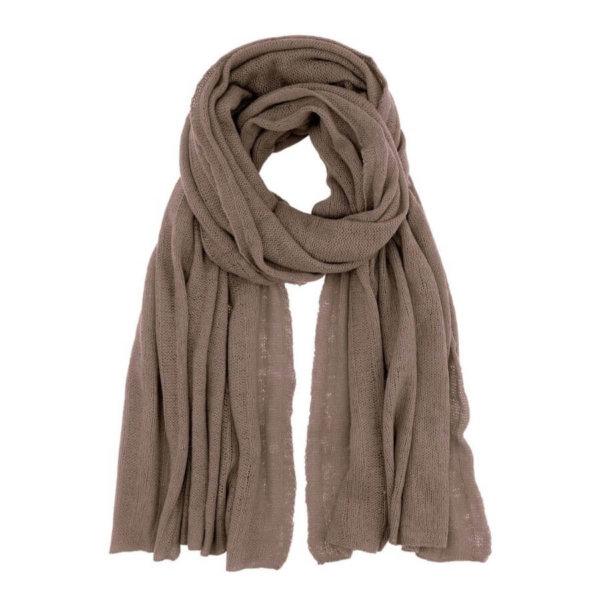 Scandinavianlux fjerlet cashmere tørklæde brun
