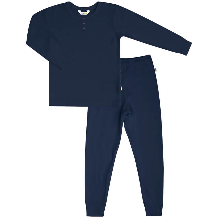 Joha økologisk bambus pyjamas i mørkeblå