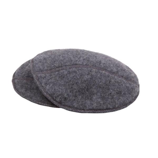 Joha grå ammeindlæg børstet uld