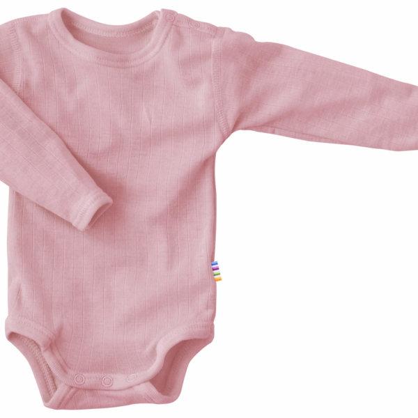 Joha uld langærmet body rosa