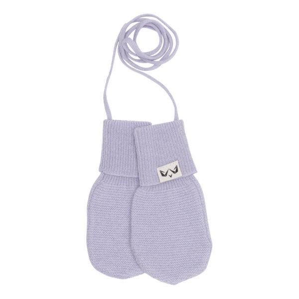 Cashmere luffer til din baby I lavendelfarvet
