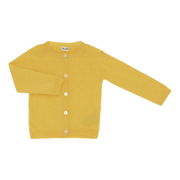 Minilux cashmere cardigan i gul