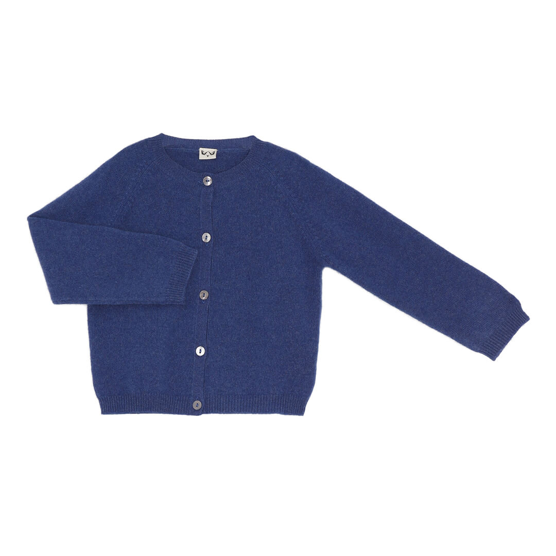 Minilux cashmere cardigan i marineblå
