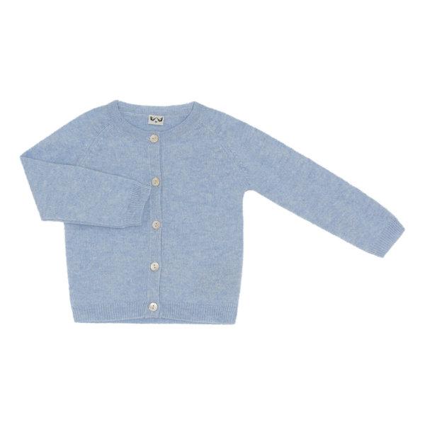 Minilux cashmere cardigan i lyseblå