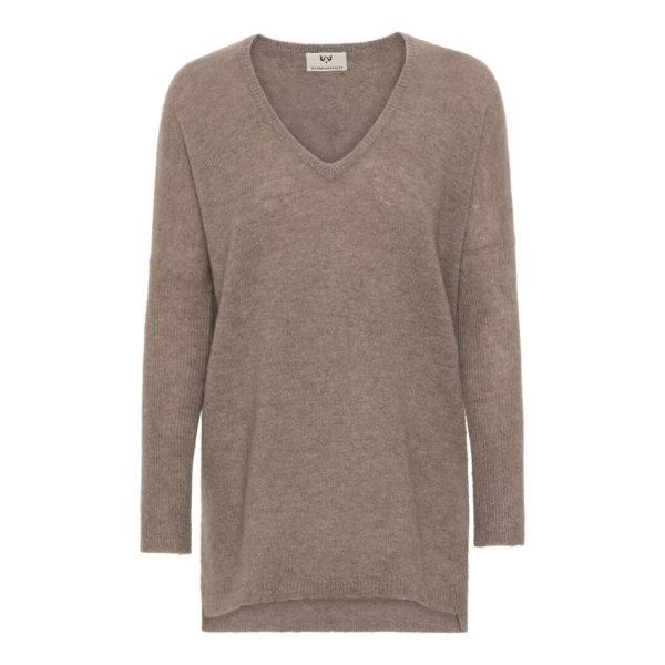 Scandinavianlux oversize cashmere pullover V-hals beige