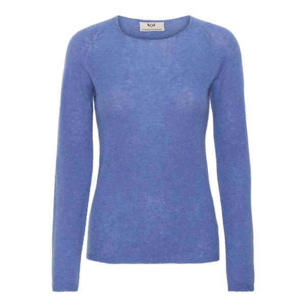 Scandinavianlux klassisk cashmere pullover med rund hals i koboltblå