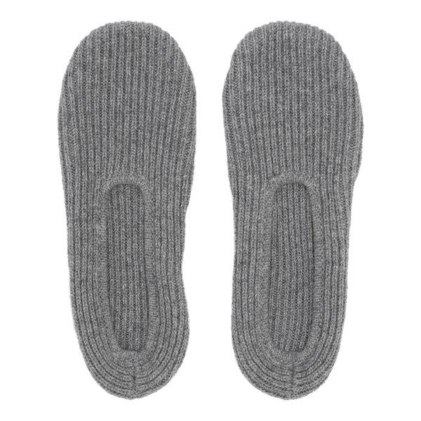 Cashmere slippers fra Scandinavianlux i grå